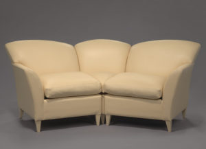 A sectional leather couch or sofa used on <em>The Oprah Winfrey Show</em>. (Photo: National Museum of African American History and Culture)