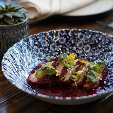 Small plates include hamachi ceviche with hibiscus agua Jamaica, garlic, serrano chile and roasted corn. (Photo: Mark Heckathorn/DC on Heels)