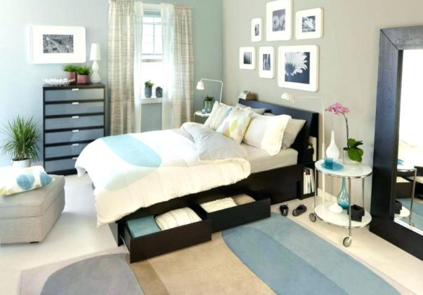 bedroom with a bed and underbed storage (Photo: Ikea)