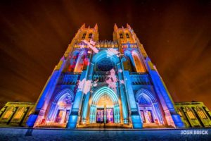 Images will be projected onto the outside of the Washington National Cathedral as part of By the People. (Photo: Josh Bricks Graphics)