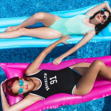 One-piece swimsuits are better for serious swimmers. And many come with built in bras for extra support. (Photo: Toni Cuenca/Pexels)