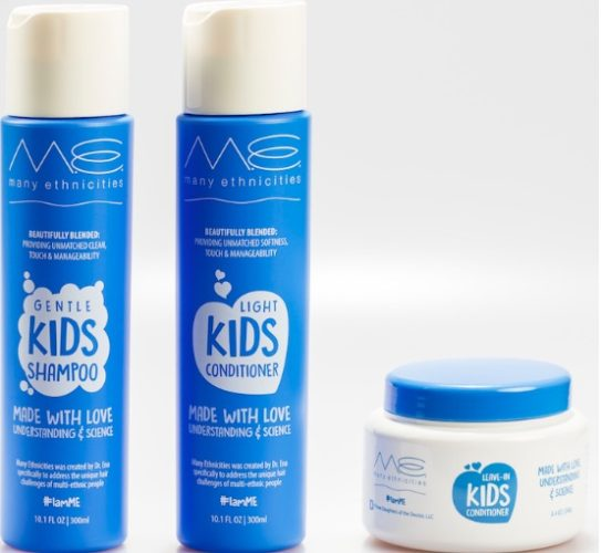 The Many Ethnicities kid's haircare kit leaves your hair clean, manageable and smelling like brown sugar. (Photo: Many Ethnicities)
