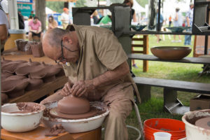 Catalan ceramicist Pep Madrenas practices his craft at the Smithsonian Folklife Festival. (Photo: Mark Roth/Ralph Rinzler Folklife Archives)