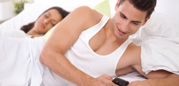 Be aware if your partner seems like he or she is up to something sketchy. (Photo: Bigstock)