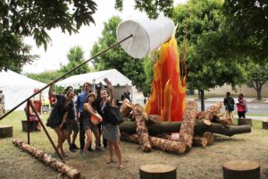 <em>Let's Build a Campfire</em> is one of the pieces on display at Baltimore's Artscape. (Photo: Artscape)