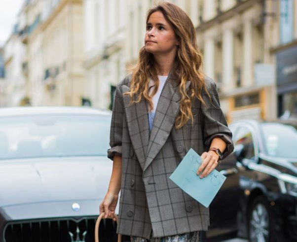 A loose-fitting blazer can be worn over a dress or used to dress up a casual outfit. (Photo: Street Style Fashion Photography)