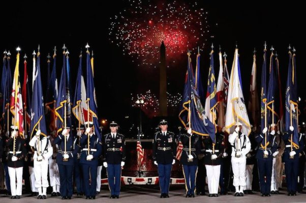 In D.C., A Capitol Concert on the West Lawn of the U.S. Capitol ends with fireworks over the National Mall. (Photo: Paul Morigi/Getty Images for Capital Concerts)