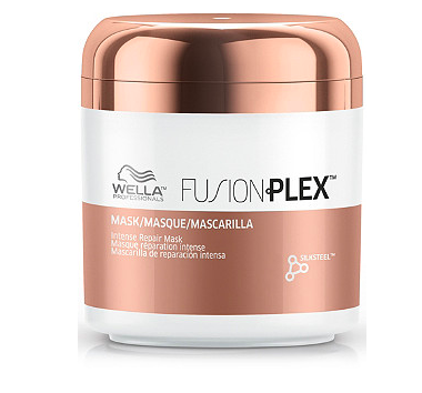 Wella Fusionplex Mask features silk amino acids and micronized lipids for anti-breakage coverage. (Photo: Wella)