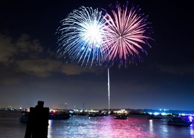 Alexandria's Birthday Celebration on July 7 concludes with fireworks set off from a barge in the Potomac River. (Photo: Victor Wolansky Photography)