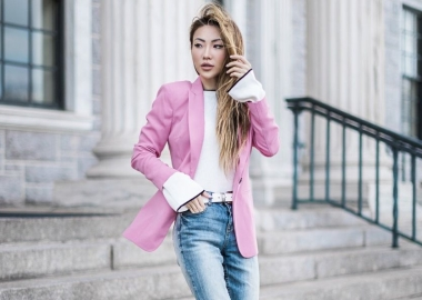 Choose brighter hues such as pastels or patterns. (Photo: Notjessfashion)