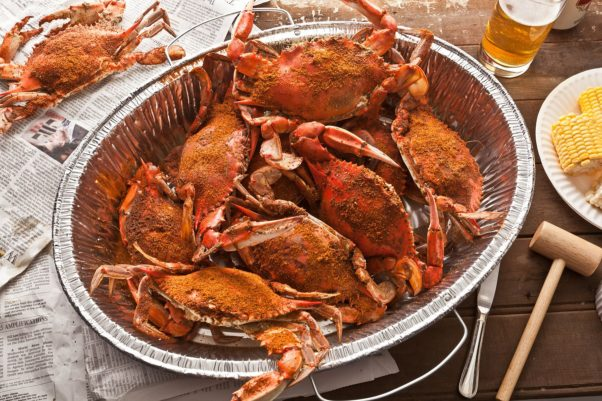 All Set Restaurant in Silver Sping hosts a crab feast at 11:30 a.m. every Saurday between July 7-Sept. 1. (Photo: Chowhound)