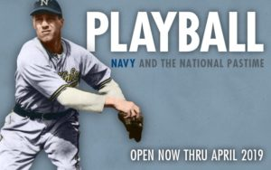 <em>Playball</em> at the Museum of the U.S. Navy examines the connection between baseball and the military. (Image: Museumm of the U.S. Navy)
