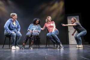 The Upright Citizens Brigrade brings <em>Damned If You Do</em> to the Woolly Mammoth Theatre through July 29. (Photo: Woolly Mammoth Theatre)