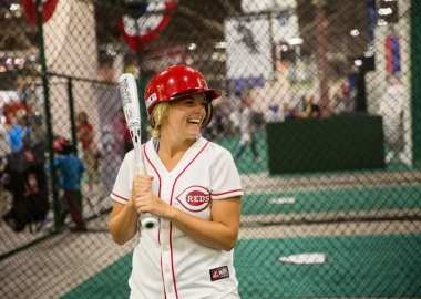 At the All-Star FanFest, fans can test their skills, meet baseball stars and get free autographs from baseball legends. (Photo: MLB)