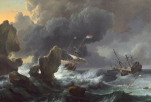 <em>Ships in Distress Off a Rocky Coast</em> by Ludolf Backhuysen (Photo: National Gallery of Art)