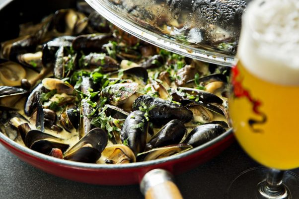 Brasserie Beck and Mussel Bar & Grille are offering all you can eat mussels for $28 from July 17-21. (Photo: Brasserie Beck)