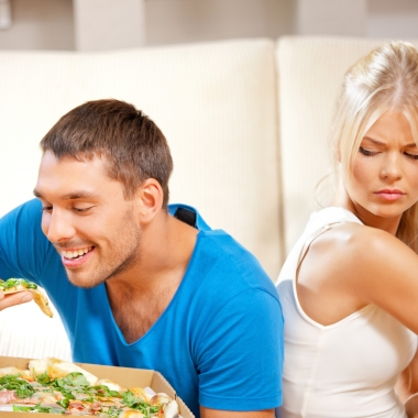 If your partner is being unhealthy, there is a chance his or her bad habits might tempt you. (Photo: Shutterstock)