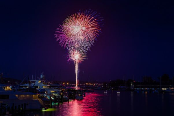 Annapolis' July 4th celebration begins with a parade at 6 p.m. followed by a DJ at City Dock at 8 p.m. and fireworks from the harbor at 9:15 p.m. (Photo: Visit Annapolis)