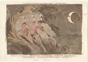 <em>Wierd Sisters; Mnisters of Darkness; Minions of the Moon</em> by James Gillray is part of the National Gallery of Art's new <em>Sense of Humor</em> exhibit. (Photo: National Gallery of Art)
