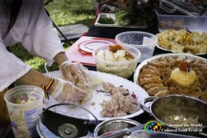 The Around the World Cultural Food Festival features more than 200 dishes from 18 countries on Freedom Plaza Saturday. (Photo: Around the World Cultural Food Festival)