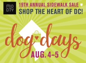 The MidCity Dog Days sidwal sale is set for Saturday and Sunday. (Graphic: MidCity Dog Days)