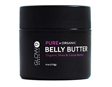 Glow Organic's Belly Buter not only helps with stretch marks, but also combats the itching that comes with them. (Photo: Glow Organics)
