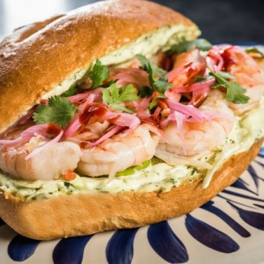 The newest Guapo's, which opens in the Georgetown Waterfront on Monday, will include items such as shrimp tortas, Mexican sandwiches. (Photo; Rey Lopez)