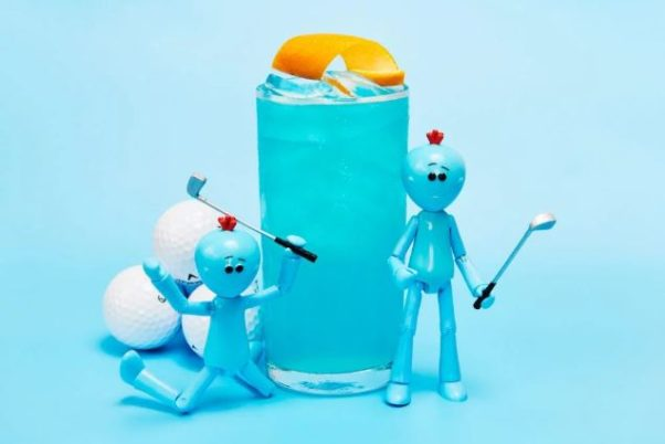 "The ""Existence Is Pain"" cocktail at the Cartoon Network pop-up bar the Wubba Lubba Dub PUB. (Photo: Karlin Villondo Photography)"