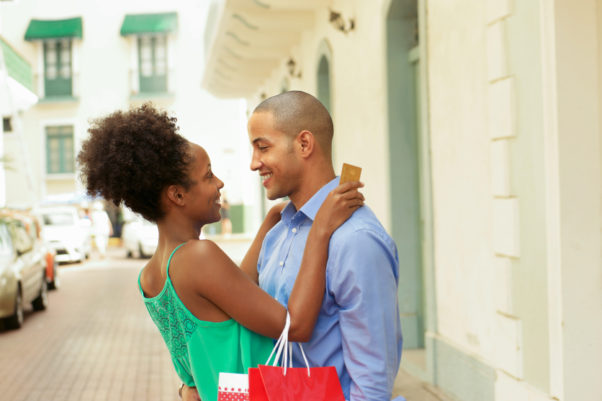 African American couple shopping with credit card. (Photo: iStock)