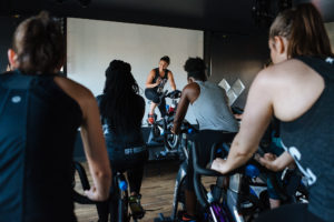 Participants in a spin class at Off-Road D.C. (Photo: GoKateShoot)
