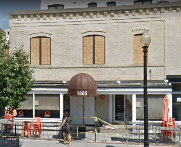 The fomer Mandu at 1805 18th St. NW, which was destroyed by an electrical fire, will be replaced with Anju from the owners of Chiko. (Photo: Google Maps)