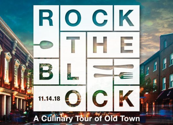 A photo of Old Town with the Rock the Block logo imposed on top of it. (Photo: Rock the Block)