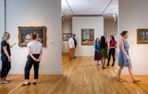 Visitors to Museum Day look at painting in The Phillips Museum. (Photo: Pepe Gomez)