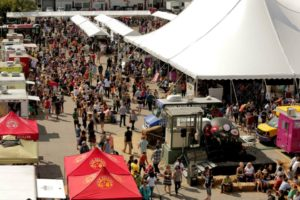 Crowds shopping under tents at a previous Crafty Bastards. (Photo: Crafty Bastards)