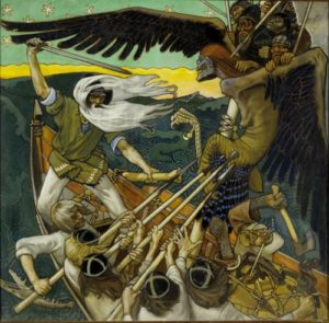 The painting Defense of the Sampo by Akseli Gallen-Kallela. (Photo: The Phillips Collection)