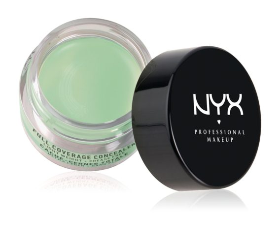 A jar of NYXs green full coverage concealer. Photo: NYX Professional Makeup)