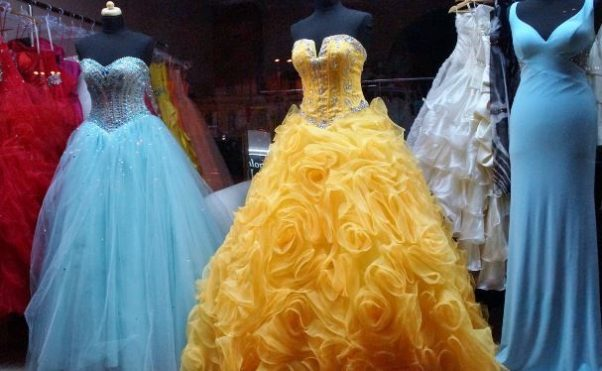 Several formal gowns in different colors on manequins. (Photo: Supplied)