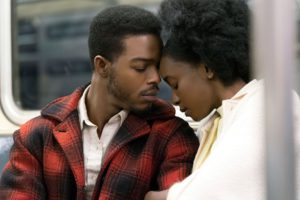 An African American man and woman riding a subway with their foreheads touching in If Beale Street Could Talk. (Photo: Annapurna Releasing)