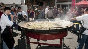 Chefs from Jaleo cook a large pan of paella in the street at Taste of Bethesda. (Photo: Bethesda Urban Partnership)