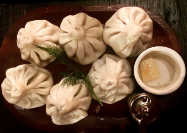 Six Khinkahali soup dumplings from Supra on a plate. (Photo: Supra)