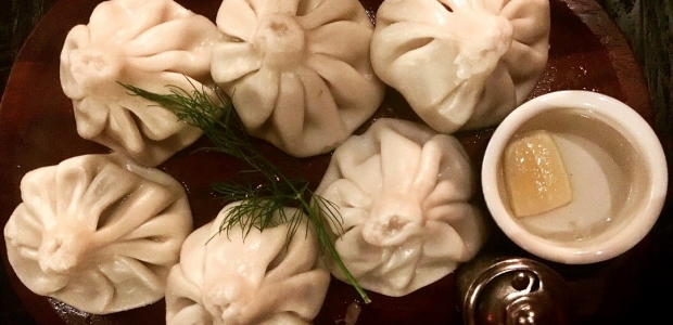 Six Khinkahali soup dumplings from Supra on a plate. (Photo: Supra)