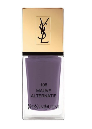 A bottle of Yves Saint Laurant nail polish in Mauve Alternatif. (Photo: YSL Beaute)