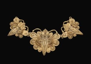 A gold butterfly necklace pendant. (Photo: National Museum of African Art)