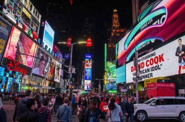 Times Square at night (Photo Jamie McInall/Pexles)