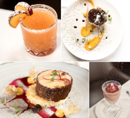 The Occidental Grill & Seafood is offering a Nutcracker-themed pre-theater meal in through Dec. 28 featureing a Nestled in Bed cocktail, (clockwise from top left), Spanish Chocolate Dance, Dance of the Sugar Plum Fairy and Arabian Coffee March. (Photo: Occidental Grill and Seafood)