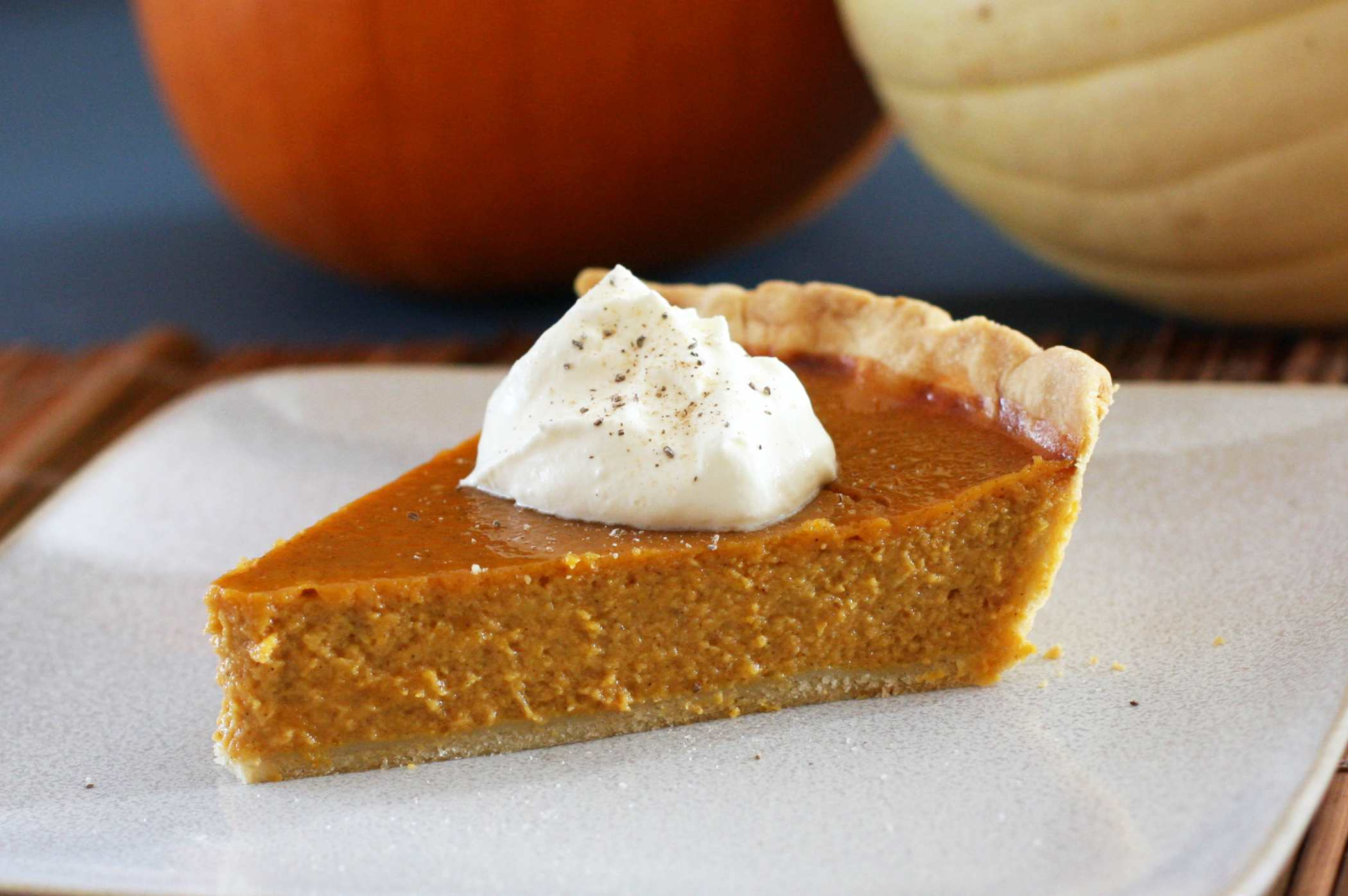 Piece of pumpkin pie with whipped creame on top. (Photo: Diana Rattray))