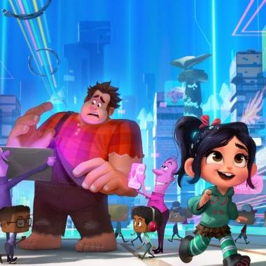 Wreck-It Ralph (voice of John C. Reilly) and Vanellope von Schweetz (voice of Sarah Silverman) travel to the world wide web. (Photo: Walt Disney Studios)