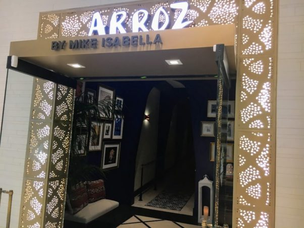 The doorway into Arroz. (Photo: Rick Chessen)