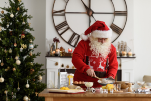 Santa cooking breakfast. (Photo: Shutterstock)