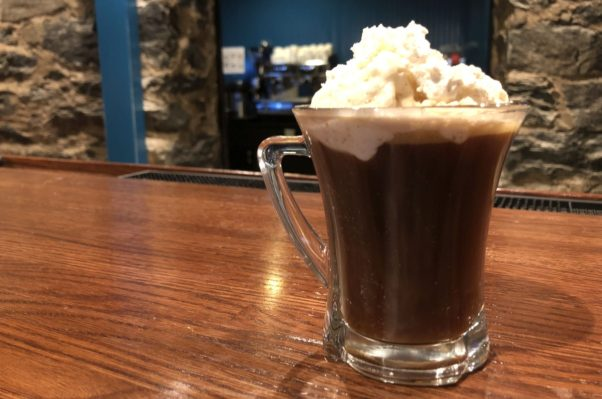 Dyllans' Irish coffee with whipped cream on top. (Photo:  Neal Corman)